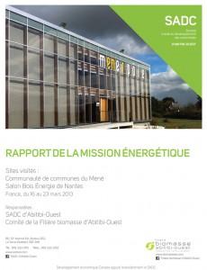 Rapport de la mission énergétique